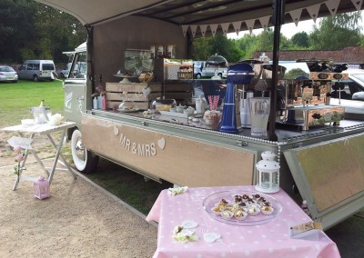 the  vintage split beeston fields wedding hire catering coffee cake